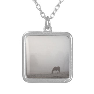 Foggy Grazing Silver Plated Necklace