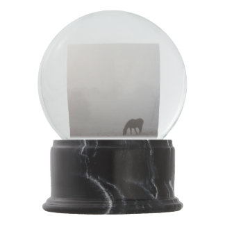 Foggy Grazing Snow Globe