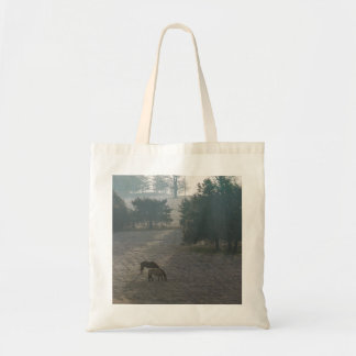 Foggy Grazing Tote Bag