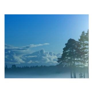 foggy lake in Finland Postcard