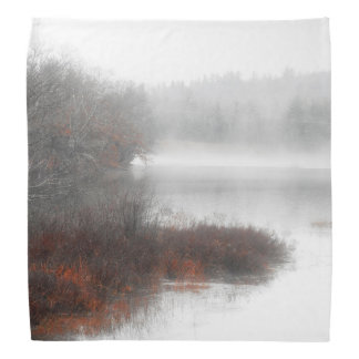 Foggy Lake on a Winter Day Bandana