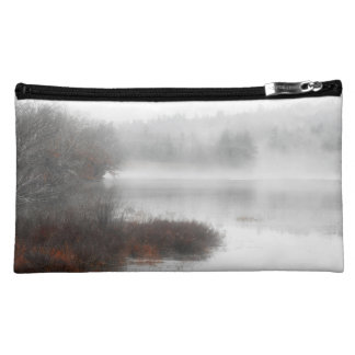 Foggy Lake on a Winter Day Makeup Bag