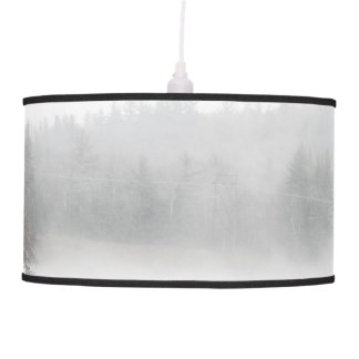 Foggy Lake on a Winter Day Pendant Lamp