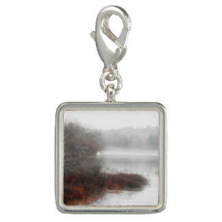 Foggy Lake on a Winter Day Photo Charm