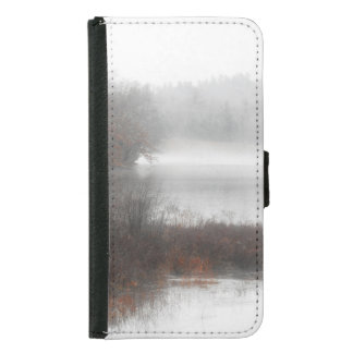 Foggy Lake on a Winter Day Samsung Galaxy S5 Wallet Case