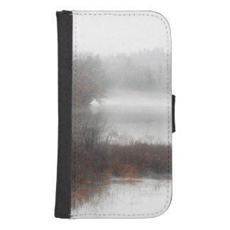 Foggy Lake on a Winter Day Samsung S4 Wallet Case