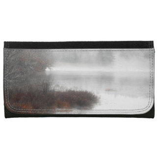 Foggy Lake on a Winter Day Wallets