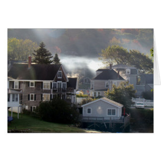 Foggy Maine Morning Card