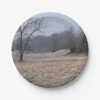 Foggy Meadow 7 Inch Paper Plate
