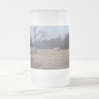 Foggy Meadow Frosted Glass Beer Mug