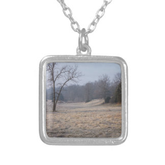 Foggy Meadow Silver Plated Necklace