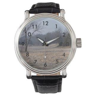 Foggy Meadow Wrist Watches