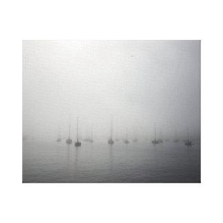 Foggy Monterey Marina Canvas Print