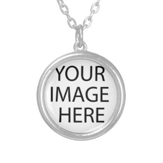 Foggy Morning BOat Dock Silver Plated Necklace
