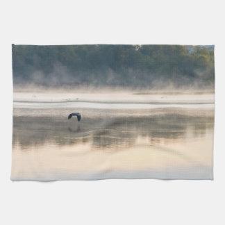 Foggy Morning Flight Kitchen Towel