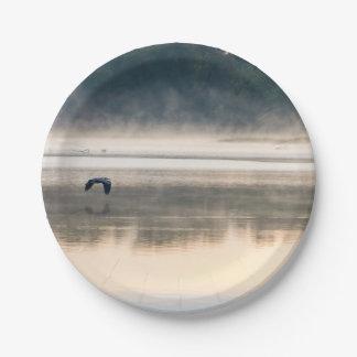 Foggy Morning Flight Paper Plate