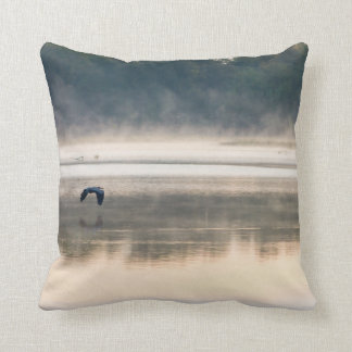 Foggy Morning Flight Throw Pillow