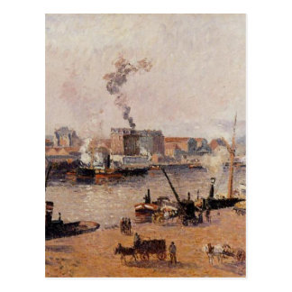 Foggy Morning, Rouen by Camille Pissarro Postcard