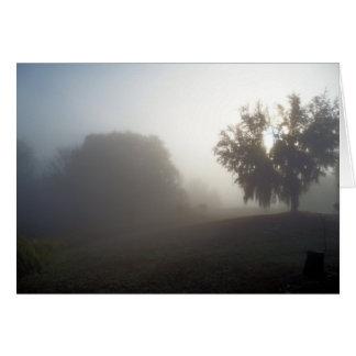 foggy morning sunrise card