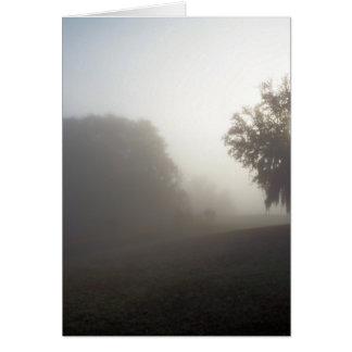 foggy morning waiting on the sun's rise card