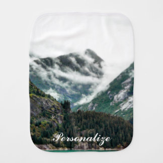 Foggy Mountain Tops Burp Cloth