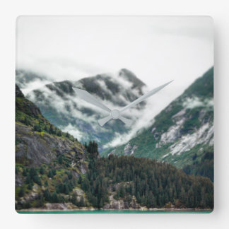 Foggy Mountain Tops Clock