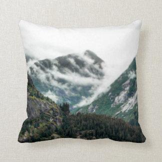 Foggy Mountain Tops Pillow