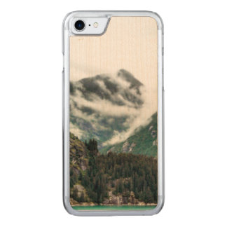 Foggy Mountain Tops Wood Phone Case
