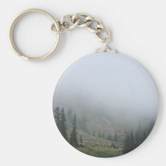 Foggy Mountainside keychain