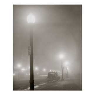 Foggy Night, 1941. Vintage Photo Poster