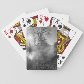 Foggy River Morning Sunrise Playing Cards