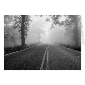Foggy Road Card
