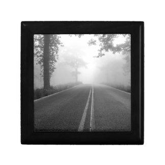Foggy road gift box
