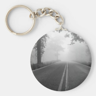 Foggy road keychain