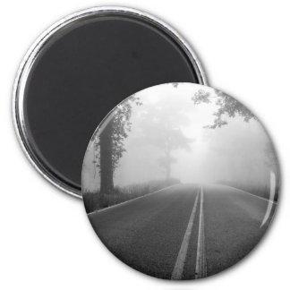 Foggy road magnet