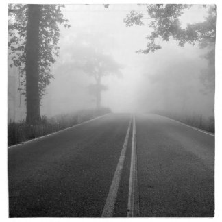 Foggy road napkin
