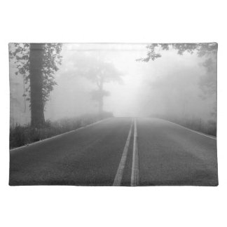 Foggy road placemat