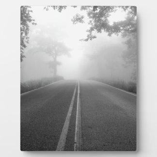 Foggy road plaque