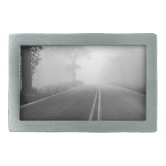 Foggy road rectangular belt buckle