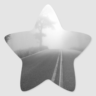 Foggy road star sticker