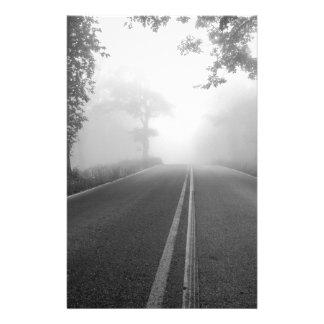 Foggy road stationery