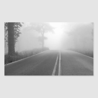 Foggy road sticker