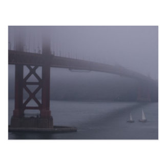FOGGY SAN FRANCISCO POSTCARD