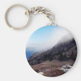 Foggy Seashore Basic Round Button Keychain