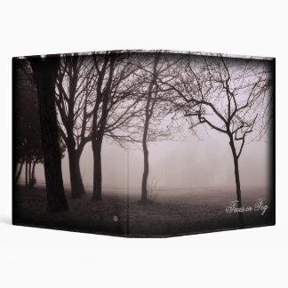 "Foggy Trees Landscape Photo 1.5"" binder"