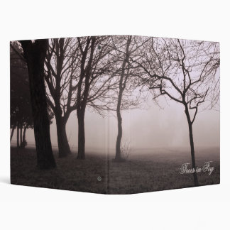 "Foggy Trees Landscape Photo 1"" binder"