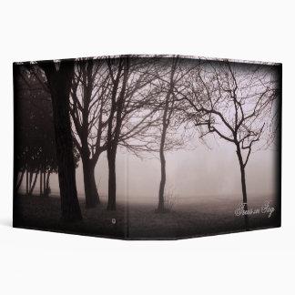 "Foggy Trees Landscape Photo 2"" binder"