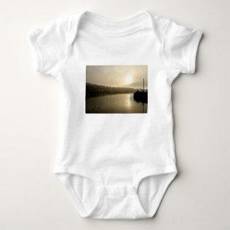 Foggy Whitby morning Baby Bodysuit
