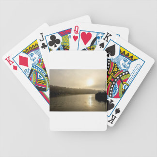Foggy Whitby morning Bicycle Playing Cards