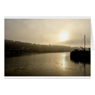 Foggy Whitby morning Card